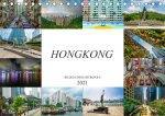 Hongkong Bilder einer Metropole (Tischkalender 2021 DIN A5 quer)