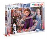 Puzzle 104 z brokatem Frozen 2 20162