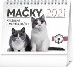 Stolový kalendár Mačky – s menami mačiek 2021