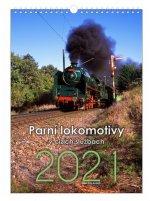 Parní lokomotivy současnosti - nástěnný kalendář 2021
