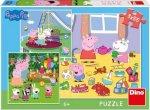 Puzzle 3x55 Peppa Pig na prázdninách