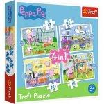 Puzzle Prasátko Peppa Vzpomínky na prázdniny 4v1