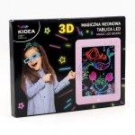 Magiczna neonowa tablica 3D led Kidea różowa