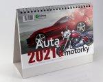 Auta a motorky - stolní kalendář 2022