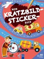 Mein Kratzbild-Stickerbuch - Fahrzeuge