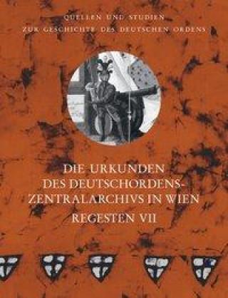 Die Urkunden des Deutschordens-Zentralarchivs in Wien: Regesten