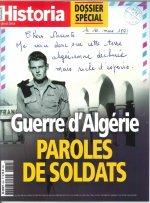 Historia mensuel  N°856 Guerre d'Algérie, paroles de soldats  - avril 2018