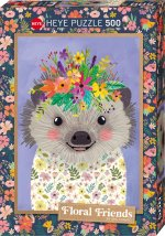 Funny Hedgehog, Floral Friends Puzzle 500 Teile