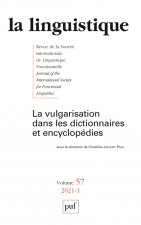 La linguistique 2021, vol. 57(1)