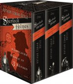 Sherlock Holmes - Sämtliche Werke in drei Bänden - Schuber - Der Hund der Baskervilles, Das Zeichen der Vier, Eine Studie in Scharlachrot, Das Tal des