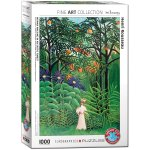 Puzzle 1000 Woman in an Exotic Forest by Henri Rousseau 6000-5608