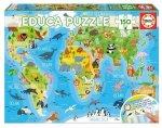 Educa - Tiere Weltkarte 150 Teile Puzzle **