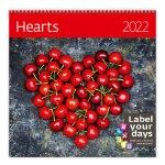 Hearts 2022 - nástěnný kalendář