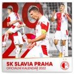 Kalendář 2022 poznámkový: SK Slavia Praha, 30 × 30 cm