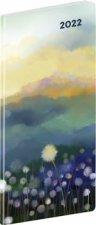 Diář 2022: Krajina - plánovací měsíční/kapesní, 8 x 18 cm