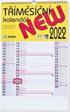 Tříměsíční New 2022 - nástěnný kalendář